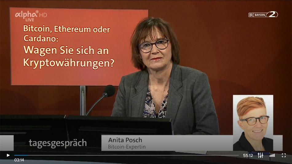 Anita Posch, Bitcoin, ARD-Alpha, BR